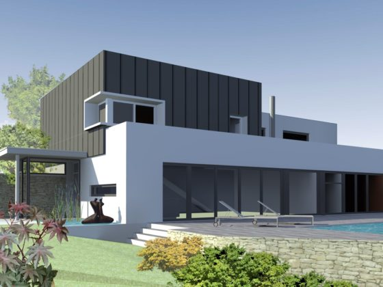 Projet 3D d'une maison de construction