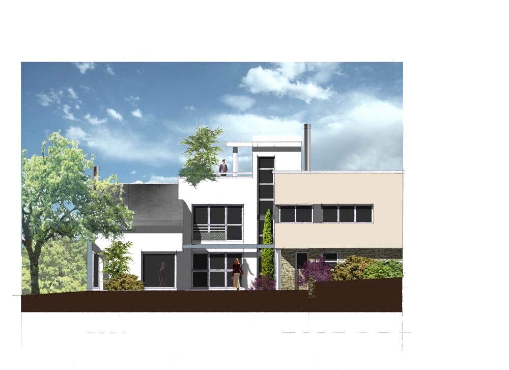 Plan extérieur d'une maison moderne