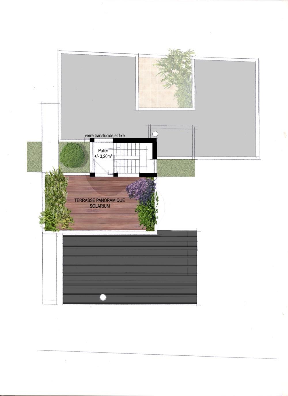 Plan intérieur d'une maison moderne