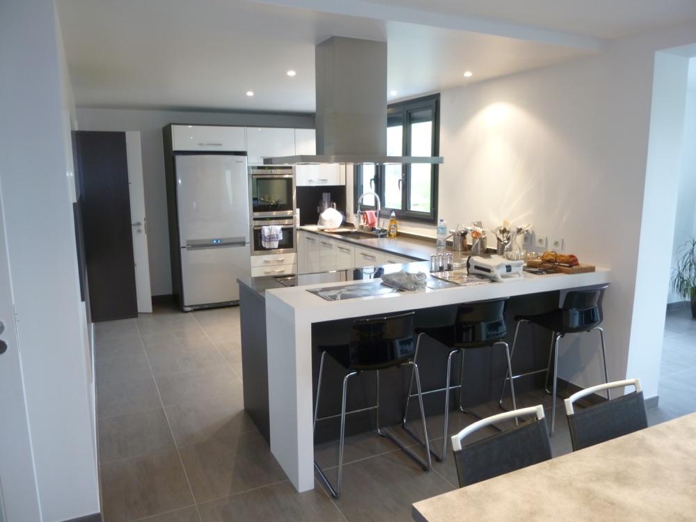 Photo de la cuisine équipée d'une maison moderne proche de Paris