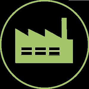 Illustration simple d'une usine