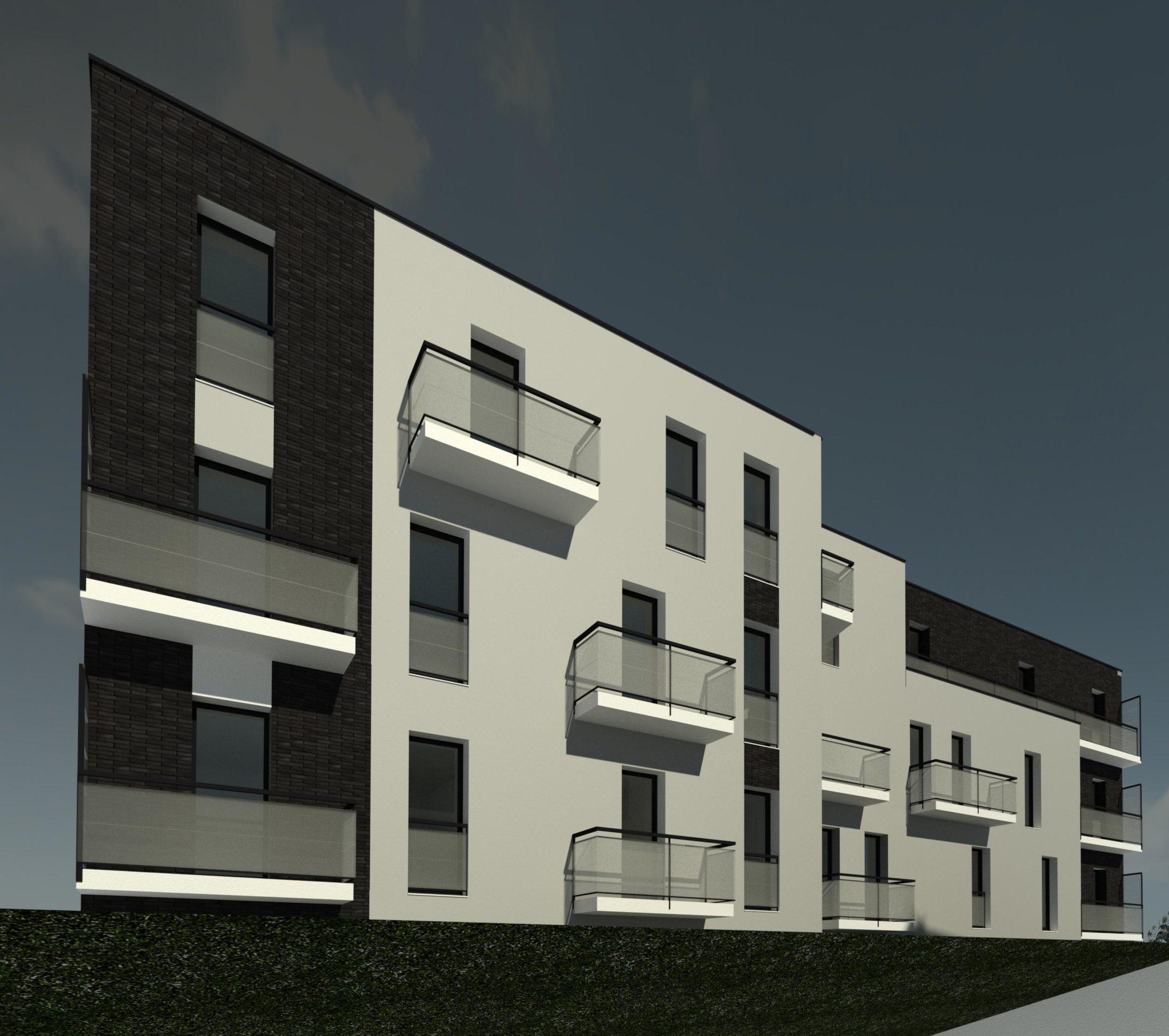 Réalisation en 3D d'un projet de logement collectif
