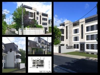 Montage photo d'exemples de réalisation de logement collectif