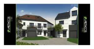 Final 3D plan of the construction of villas