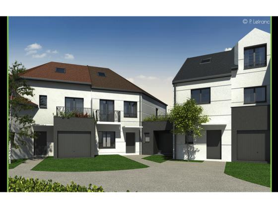 Plan 3D final de la construction de villas