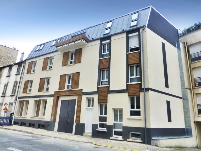 Photo finale de la construction d'un logement collectif pour un particulier