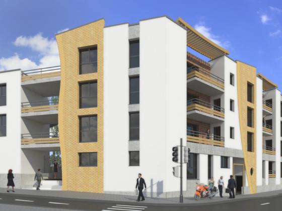 Plan 3D d'un immeuble issu du réaménagement urbain