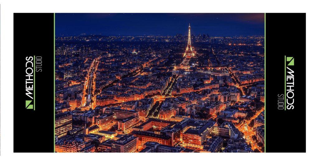 Photo illustrative de la ville de Paris de nuit
