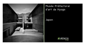 Photo en noir et blanc du musée de Hyogo