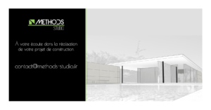Image 3D d'un projet de construction Methods Studio