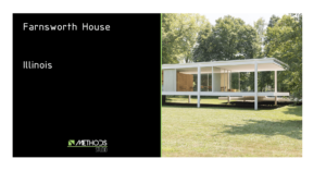 Photo de la Farnsworth House à Plano dans l'Illinois