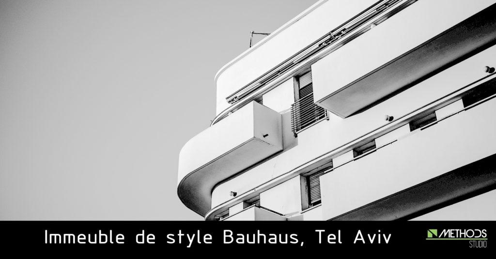 Photo d'un immeuble à Tel Aviv de style Bauhaus