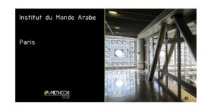 Photo de l'institut du monde arabe par Jean Nouvel