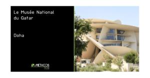 Photo couleur du bâtiment de Doha par Jean Nouvel