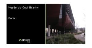 Photo du bâtiment Quai Branly à Paris par Jean Nouvel
