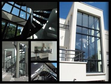 Mosaïque de photos de la construction d'une maison par Methods Studio Architecteurs