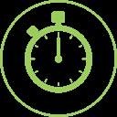 Illustration simple d'un chrono pour illustrer le respect des délais de construction