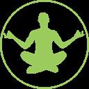 Illustration simple d'une personne en méditation