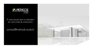 Image en noir et blanc d'un plan d'architecte