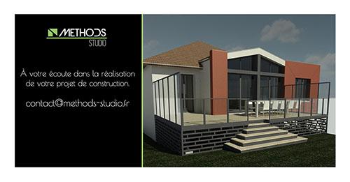 Image 3D d'un projet Methods Studio Architecteurs