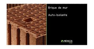 Photo brique de construction pour un mur auto-isolant