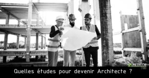 photo of a building site to become an architect in France